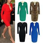 Cocktail Casual Stretchy Ladies Vintage Womens Office Bodycon Dress UK sz 6-18