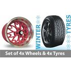 4 x 15 Zito Sakura Pink Alloy Wheel Rims and Tyres -  195/50/15