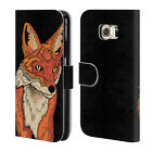 STEVE *SWADE* WADE ANIMAL ILLUSTRATIONS LEATHER BOOK CASE FOR SAMSUNG PHONES 1