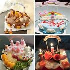 Happy Birthday Cake Topper Decoration Pick Banner Party Cupcake Kids