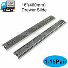 "16"" Side Mount Full Extension Drawer Runners Heavy Duty Ball Bearing Slides"