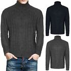 Mens Cable knit Collared Cardigan Thick Warm Shawl Winter Sweater Knitted Jumper