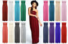 Women Ladies Sheering Maxi Dress Boobtube Strapless Bandeau Long Top Summer Wear