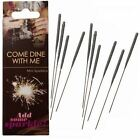 COME DINE WITH ME® Birthday Wedding Cake Celebration Mini Sparklers (Pack of 10)