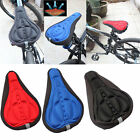 Cycling Comfortable Bicycle Silicone Gel Seat Cover Cushion Soft 3D Soft Pad US