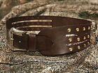 Brown Leather Belt and Buckle Studded Medieval Style