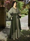 Medieval Costume European Saxon Dress Maiden Cotton Renaissance Clothing