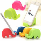 Cartoon Elephant Phone Holder Cute Stand Black/Pink/Yellow/Blue/Green Plastic