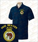 HMS BEAVER Embroidered Polo Shirts