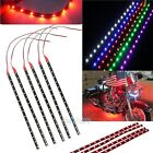 12x Waterproof 12''/15 DC 12V Motor LED Strip Underbody Light For Car Motorcycle