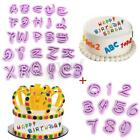 10/26/36pcs Alphabet Letter Number Cookie Cutter Cake Fondant Decorating Tool