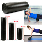 Black Extra Firm High Density Foam Roller Muscle Back Pain Trigger Yoga Massage image