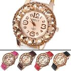 Fashion Women's Champagne Crystals Decorated Quartz Wrist Watch,Girls