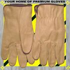 S-M-L-XL Soft Pigskin Leather Chore Work Driver Gloves Low Men Women