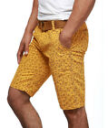 Greentree Mens Cotton Shorts 6 Pocket Cargo Khaki Printed Shorts MASR07