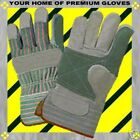 S-M-L-XL-Leather REINFORCED PALM FINGER Starched CUFF WORK Gear Garden Gloves