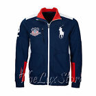 Ralph Lauren Mens Polo Sport Navy Big Pony USA Flag Zip Track Jacket New Size L