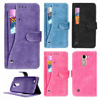 For LG K10 Premium Slide Out Pocket Wallet Case Pouch Phone Cover Accessory