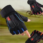 Men's Weight Lifting Gym Fitness Workout Training Exercise Half Gloves BK