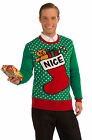 Ugly Christmas Sweater  NICE Green and Red Choose your Size  Ships Free