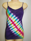 LADIES TIE DYE / DYED HIPPY RAVE DOOF SINGLET CAMI SIZE MEDIUM OR TO FIT SIZE 10