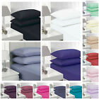 "100% Cotton EXTRA DEEP 16""/40CM PERCALE TWIN, QUEEN, KING FITTED SHEETS image"