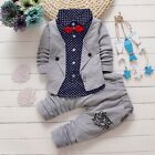 2pcs Toddler Baby Boys Kids Shirt Tops+Long Pants Clothes Outfits Gentleman Sets