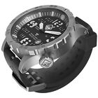 Hazard 4 Heavy Water Diver Watch Bead-Blasted Black Dial White Graphics BBRB