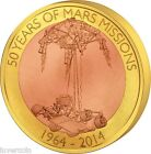 50 Years of Mars Missions $1 dollar 60 g Cu-Ni Floating Coin - Samoa 2014