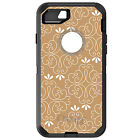CUSTOM OtterBox Defender for iPhone 6 6S 7 PLUS Taupe White Floral