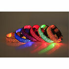 Leopard Pet LED Light Flashing Collar Safety Nylon Neck Cat Need Collars Best