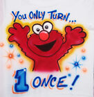 ELMO BIRTHDAY T SHIRT AIRBRUSHED  NEW PERSONALIZED INFANT AND TODDLER SIZES