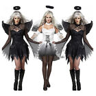Halloween Womens Dark Angel Devil Costume Party Cosplay Fancy Dress Outfit New