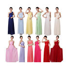 Women One Shoulder Wedding Bridesmaid Prom Ball Gown Long Evening Party Dress
