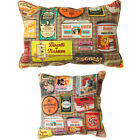 Scatter Box Tins 100% Cotton Piped Feather Filled Cushion, Multi