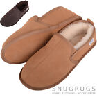 100% GENUINE MENS SHEEPSKIN SLIPPER WITH HARD SUEDE SOLE