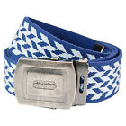 AUCTION - Pattern Belt - Blue And Sky Blue Cool Retro Fashion Design