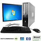 CLEARANCE! Fast HP Compaq Desktop WINDOWS 7 or XP Computer PC Core 2 Duo +LCD