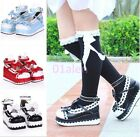 HOT Lolita Sweet Womens creepers platform wedge pumps Cosplay shoes Mary Janes