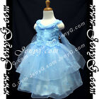#SPB8 Baby Flower Girl Wedding Junior Bridesmaid Pageant Birthday Gown Dress