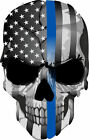 Thin Blue Line- Punisher Skull Blue Line USA version 2 - Various sizes Free Ship