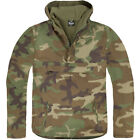 Brandit Army Combat Windbreaker Hooded Mens Jacket Fishing Anorak Woodland Camo