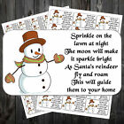 CHRISTMAS REINDEER FOOD POEM STICKERS LABELS x 1000 #abt