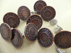 Pack of  5 Hammer on Jeans buttons - Bronze 19mm
