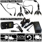 12V 2A 5A PLUG Power Supply Charger Adapter CCTV Camera 2 4 8 Way Splitter Cable