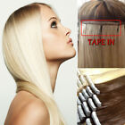 AAA Tape In 40Pcs 100g 16'-24' Skin Weft Remy Human Hair Extensions US Ship I332