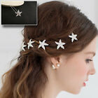 Lot Pearl Star Diamante Clips Crystal Hair Pin Prom Wedding Bridal Party 1-50P