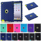 Case For iPad 2 3 4 Shockproof Anti-Scratch 3 in 1 Silicone Plastic Hybrid Cover