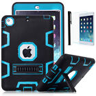 Shockproof Military Heavy Duty Hybrid Rubber Hard Case Cover For iPad mini Air 2