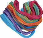FAIR TRADE COTTON KNIT DOUBLE WRAP HIPPY BOHO STRETCH HAIR BANDS TIES ACCESORIES